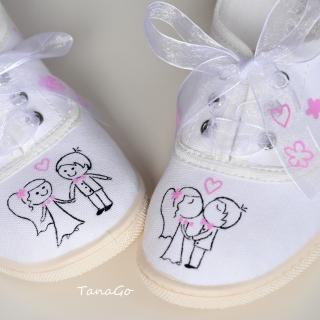 Svatební tenisky s růžovou ad17a6fae7